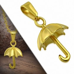Pendentif parapluie en acier inoxydable doré