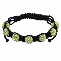 Bracelet Shamballa avec 7 perles Argil Disco Ball pavé avec Jonquil CZ