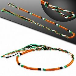 Bracelet d'amitié en soie avec motif de broderie de soie colorée à la mode - XXB388