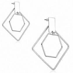 Boucles d'oreilles pendantes à la mode en alliage à la mode en forme de goutte (paire)