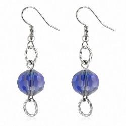 Boucles d'oreilles à la mode en acrylique avec perles longues à crochets (paire)