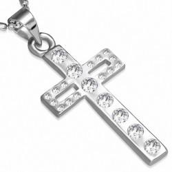Alliage cristal fantaisie collier en chaîne avec chaîne en alliage de cristal cz clair