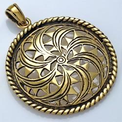 Pendentif Fantaisie Cercle Bronze Fantaisie