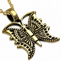 Pendentif Aile Papillon Fashion Bronze