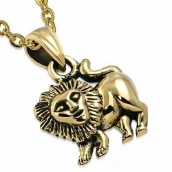 Pendentif Lion Lion Lion Signe du Lion - Bronze
