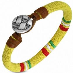 Bracelet à bascule en cuir marron à la mode et à la mode - FBO040