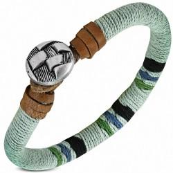 Bracelet à bascule en cuir marron à la mode et à la mode - FBO042
