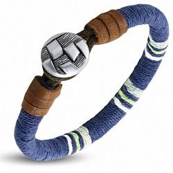 Bracelet à bascule en cuir multicolore avec cordon de cuir - FBO044