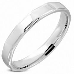 4mm |Bague en alliage de mariage en acier inoxydable, à la forme et au confort