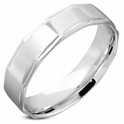 6mm |Bague en alliage de mariage en acier inoxydable, à la forme et au confort