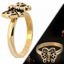 Bague Papillon Fantaisie Bronze