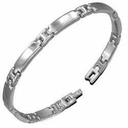 Bracelet à maillons de panthère à graver en acier inoxydable 302