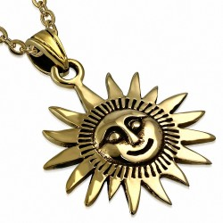 Pendentif Emblème Fleur Soleil  Bronze