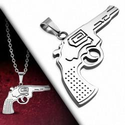 Pendentif en acier inoxydable avec pendentif clé grecque