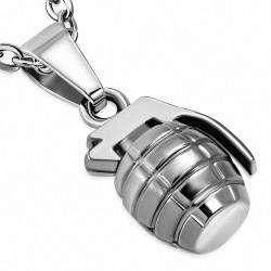 Pendentif Grenade à Main en Alliage Fashion argenté