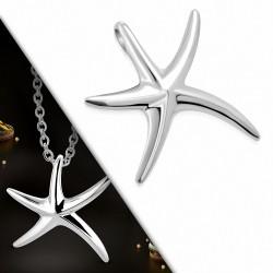 Pendentif charm étoile de mer en acier inoxydable