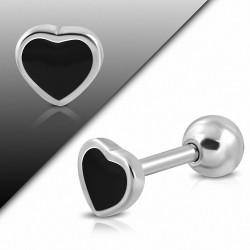 Piercing en acier inoxydable 2 tons Love Horeillet Tragus / Cartilage Barbell   | Boule 4mm | G-1
