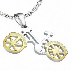 Pendentif homme vélo doré