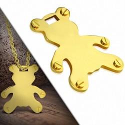 Pendentif homme ours doré