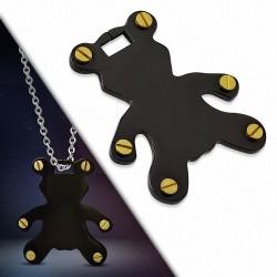 Pendentif homme ours noir et doré