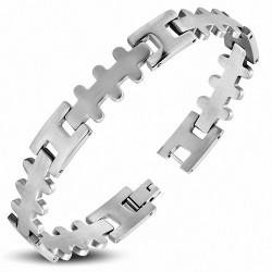 Bracelet homme acier géométrique