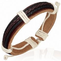 Bracelet homme cuir muti colore