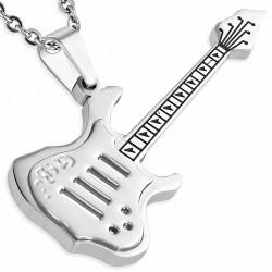 Pendentif homme guitare électrique