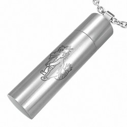 Pendentif homme cylindre signe chinois dragon
