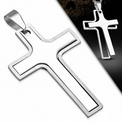 Pendentif homme croix latine