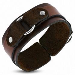Bracelet homme cuir marron boucle de ceinture