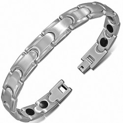 Bracelet homme acier liens imbriqués