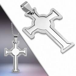 Pendentif homme croix celtique deux parties