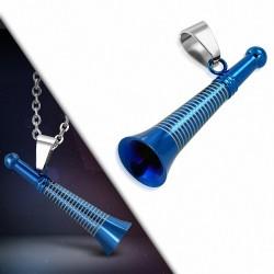 Pendentif homme flute bleue