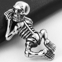 Pendentif homme biker squelette