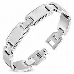 Bracelet pour hommes en acier gravable maillons panthère