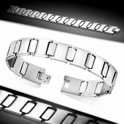 Bracelet pour hommes en acier inoxydable style montre