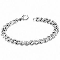 Bracelet homme acier maille cubaine largeur 8 mm
