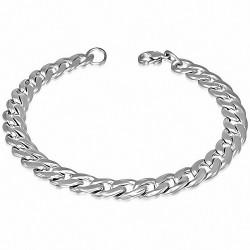 Bracelet homme acier maille cubaine largeur 7 mm