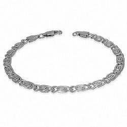 Bracelet homme acier maillons chaine largeur 5 mm