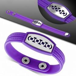 Bracelet homme watch caoutchouc violet géométrique