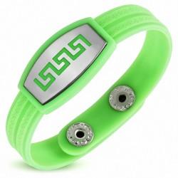 Bracelet homme watch caoutchouc vert clair labyrinthe