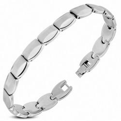 Bracelet pour hommes en acier inoxydable fantaisie