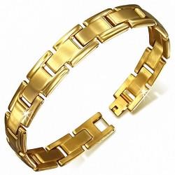 Bracelet pour hommes en acier doré maille panthère de 12