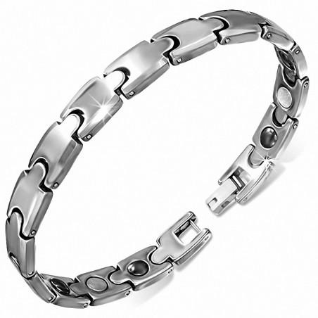 Bracelet pour hommes en Tungstène maille panthère