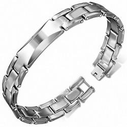 Bracelet homme magnétique en Tungstène avec plaque
