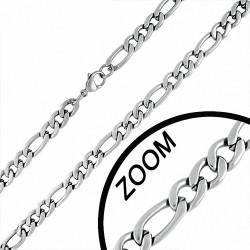 Chaine pour hommes acier maille figaro 58 cm x 8 mm