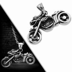 Pendentif homme biker moto dragon